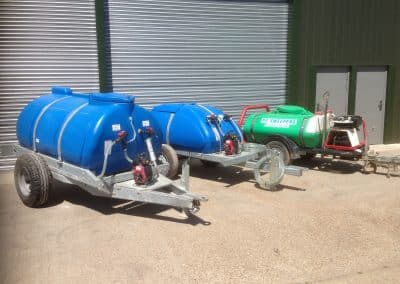 Three water bowsers
